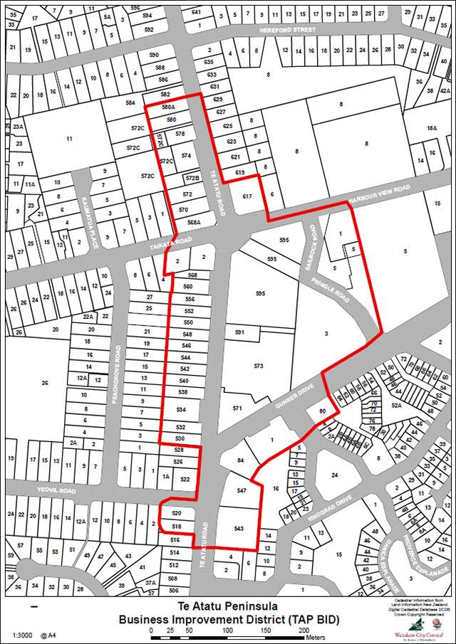 Te Atatu Peninsula BID Map