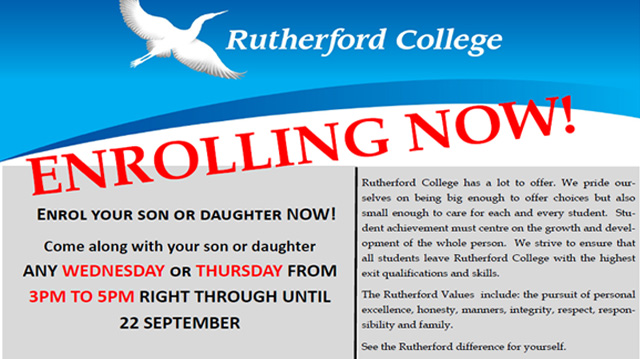 Rutherford College Enrolling Now